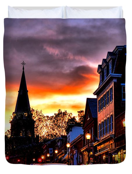 Annapolis Night Duvet Cover