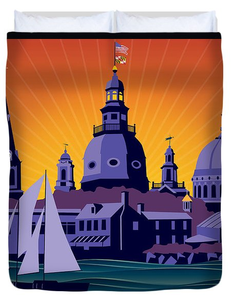 Annapolis Steeples And Cupolas Duvet Cover