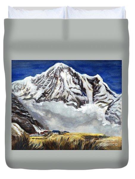 Annapurna L Mountain In Nepal Duvet Cover