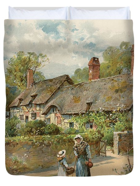 Anne Hathaway's Cottage At Shottery Duvet Cover