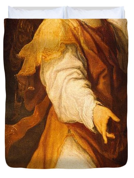 Announcing Angel Duvet Cover by Annibale Carracci