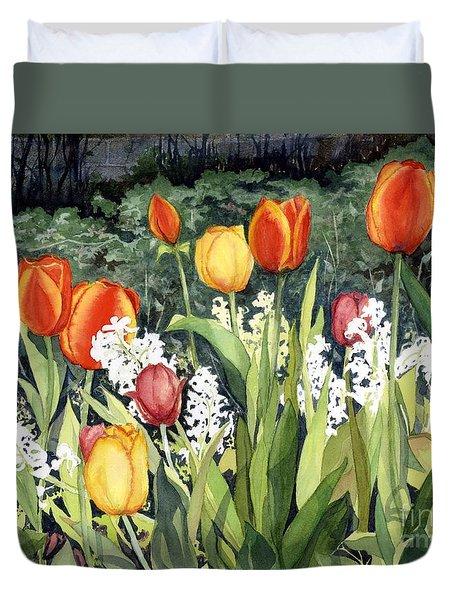 Ann's Tulips Duvet Cover