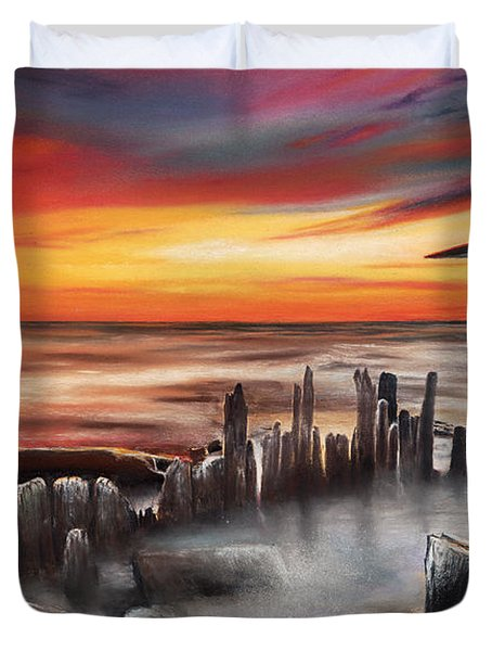 Another Bloody Sunset Duvet Cover