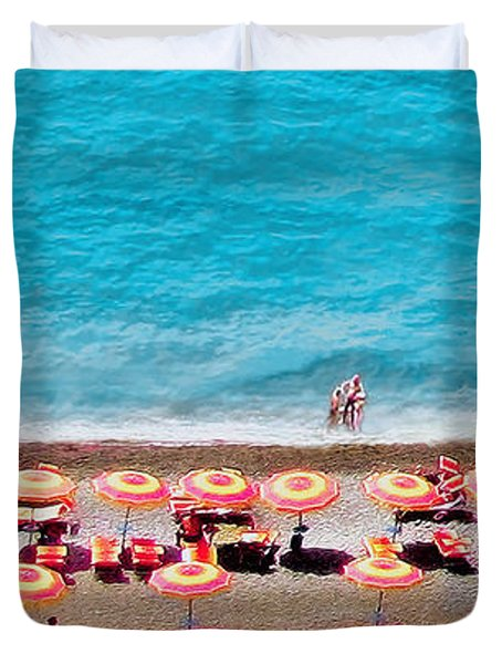 Another Day In Paradise-positano-digitized Duvet Cover
