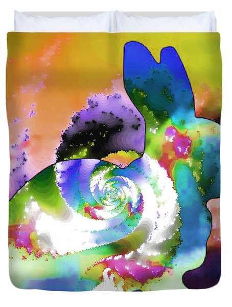Another Rabbit Hole For Alice Duvet Cover by Elizabeth McTaggart