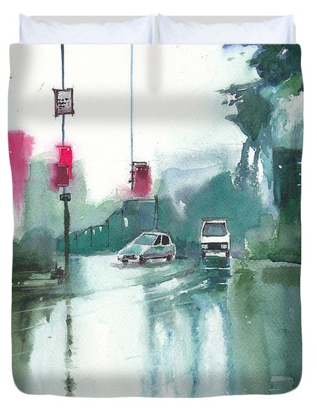 Another Rainy Day Duvet Cover by Anil Nene