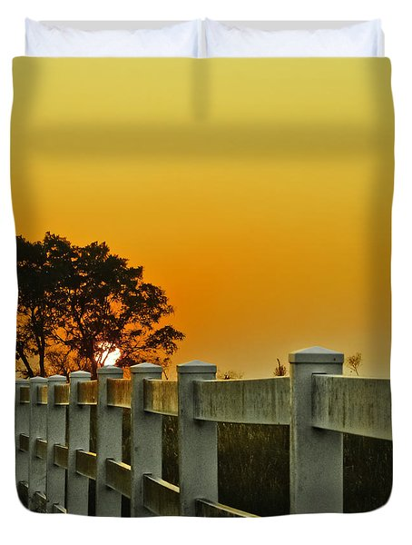 Another Tequila Sunrise Duvet Cover by Robert Frederick