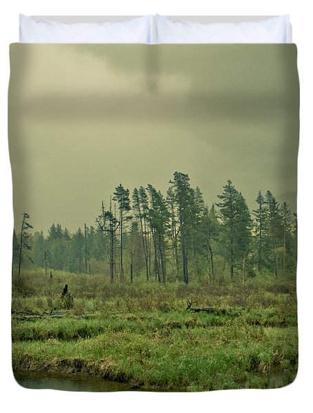 Another World-another Time Duvet Cover by Eti Reid