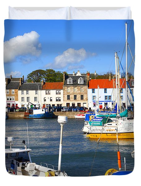 Anstruther Harbour Duvet Cover by Craig B