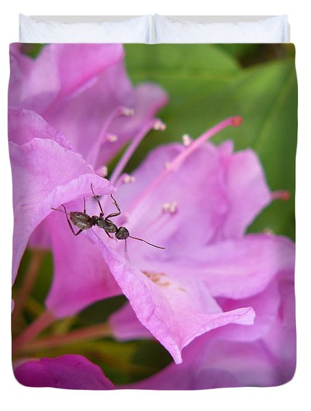 Ant On Flower Duvet Cover