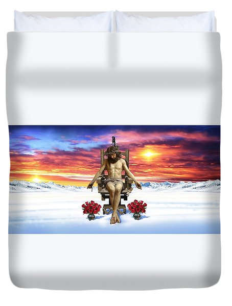Antarctica Duvet Cover by Scott Ross