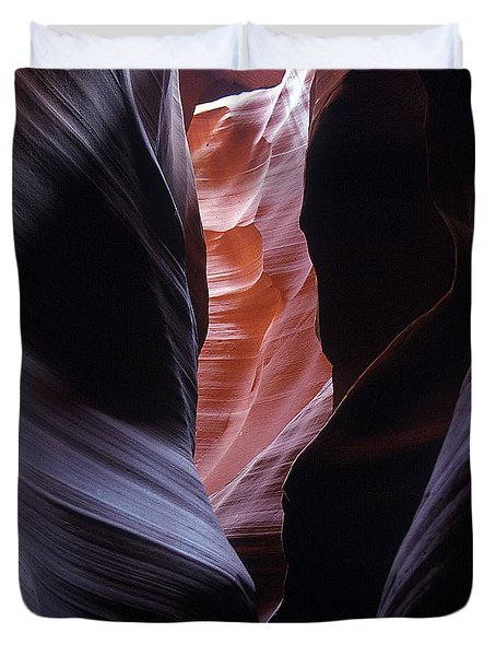 Duvet Cover featuring the photograph Antelope Canyon 5 by Jeff Brunton