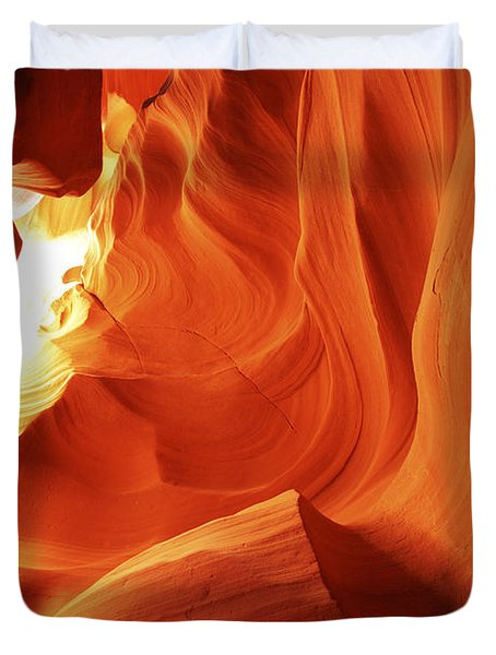 Duvet Cover featuring the photograph Antelope Canyon In Winter Light 1 by Alan Vance Ley