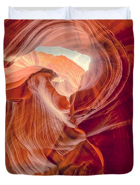 Antelope Canyon Navajo Nation Page Arizona Weeping Warrior Duvet Cover