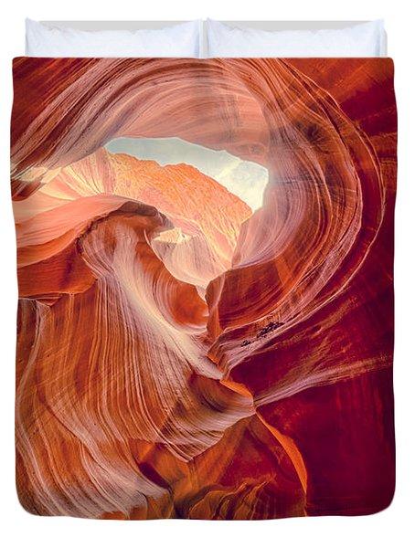 Antelope Canyon Navajo Nation Page Arizona Weeping Warrior Duvet Cover