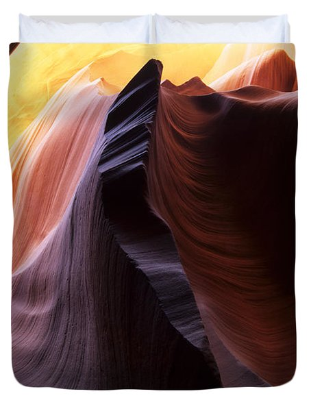 Antelope Canyon Pages Of Time Duvet Cover by Bob Christopher