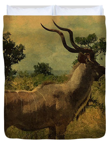 Duvet Cover featuring the photograph Antelope by Ericamaxine Price