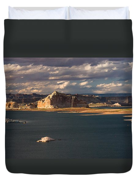Antelope Island At Sunset Duvet Cover