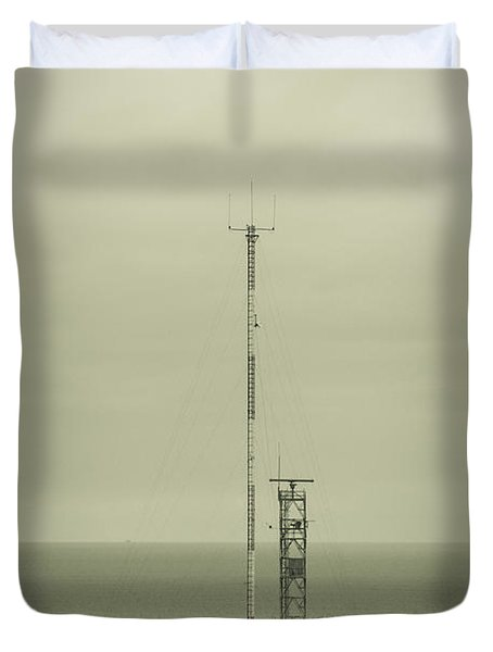 Antenna Duvet Cover by Marco Oliveira