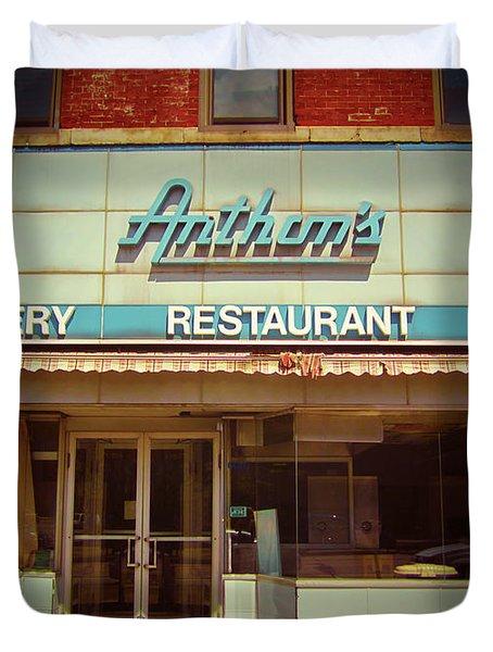 Anthon's Bakery Pittsburgh Duvet Cover by Jim Zahniser