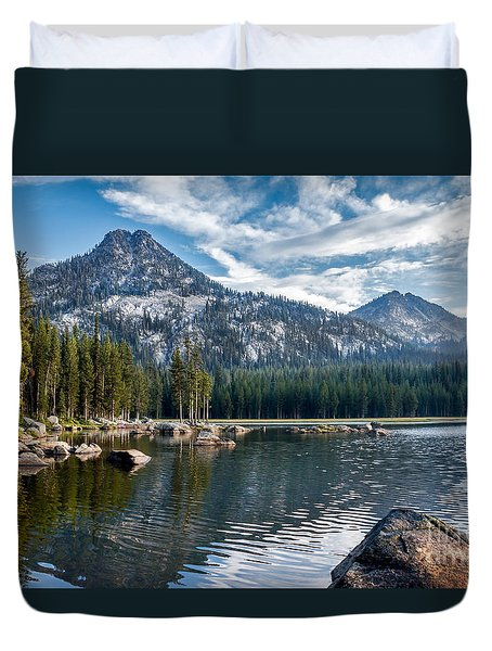 Anthony Lake Duvet Cover by Robert Bales