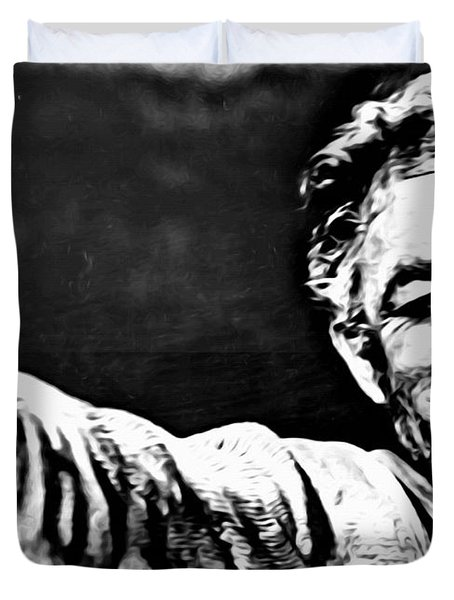 Anthony Quinn As Zorba Duvet Cover