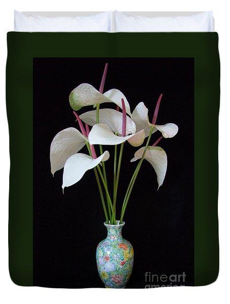 Anthurium Bouquet Duvet Cover by Mary Deal