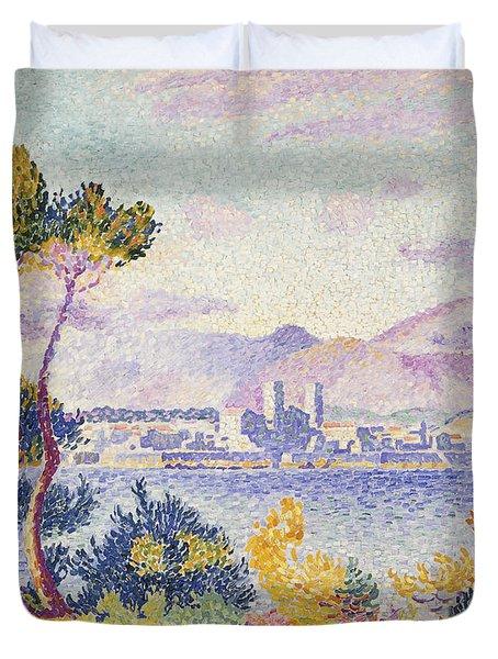 Antibes Afternoon Duvet Cover by Henri Edmond Cross