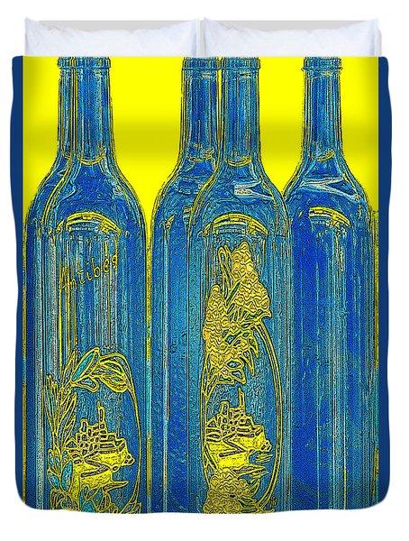 Antibes Blue Bottles Duvet Cover