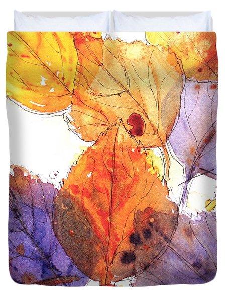 Anticipating Autumn Duvet Cover