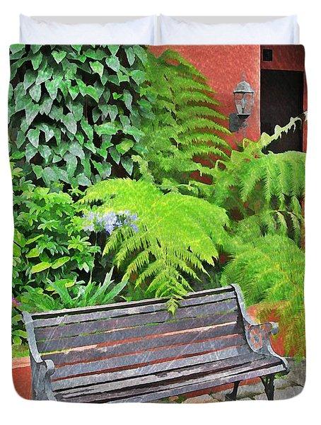 Antigua Bench Duvet Cover
