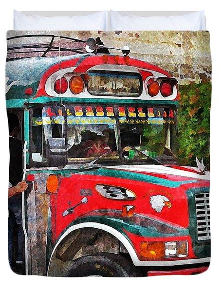 Antigua Bus Stop Duvet Cover