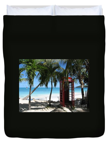Antigua - Phone Booth Duvet Cover by HEVi FineArt