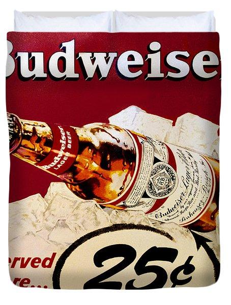 Antique Budweiser Signage Duvet Cover