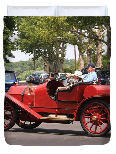 Antique Car Duvet Cover