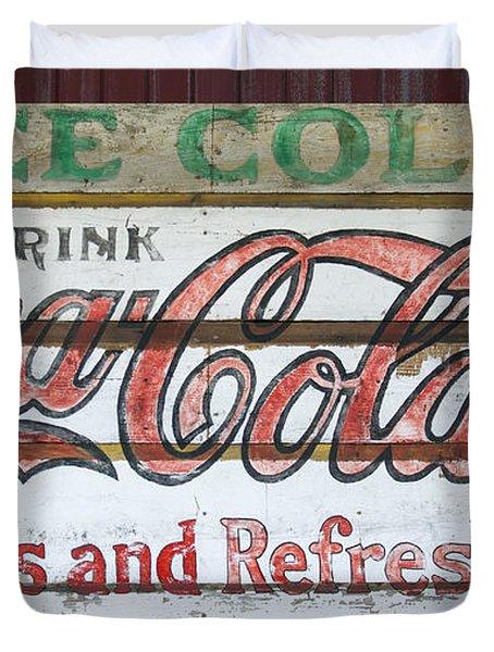 Antique Coca Cola Sign  Duvet Cover