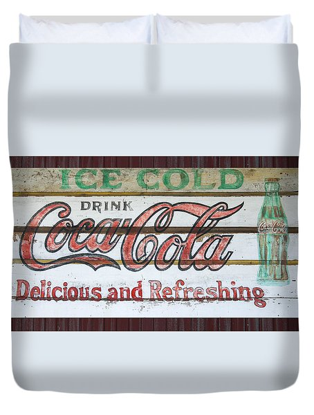 Antique Coca Cola Sign  Duvet Cover