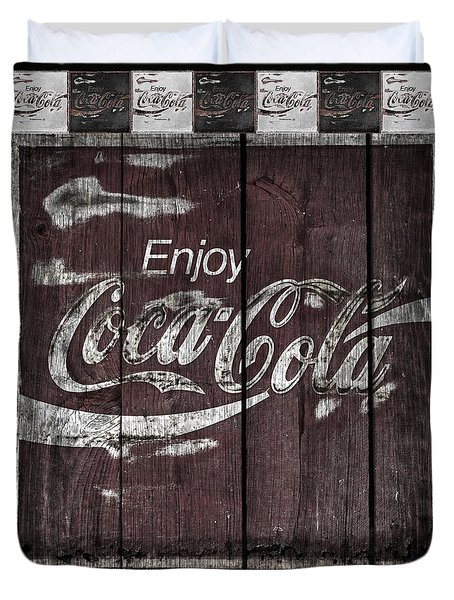 Antique Coca Cola Signs Duvet Cover by John Stephens