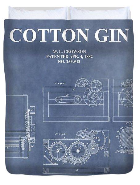 Antique Cotton Gin Patent Duvet Cover