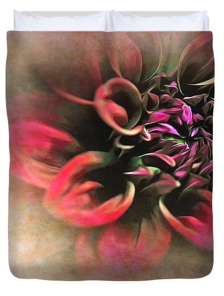 Antique Dahlia Duvet Cover by Kaye Menner