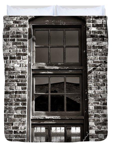 Antique Factory Window Duvet Cover