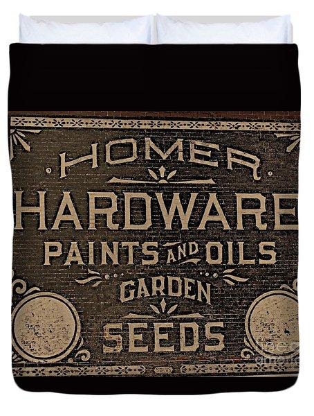 Antique Homer Hardware Duvet Cover by Linda Simon