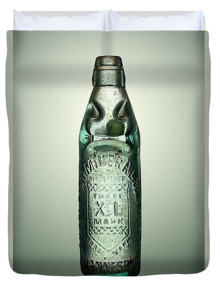 Antique Mineral Glass Bottle Duvet Cover