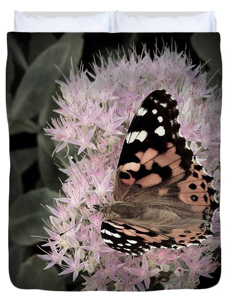 Duvet Cover featuring the photograph Antique Monarch by Photographic Arts And Design Studio