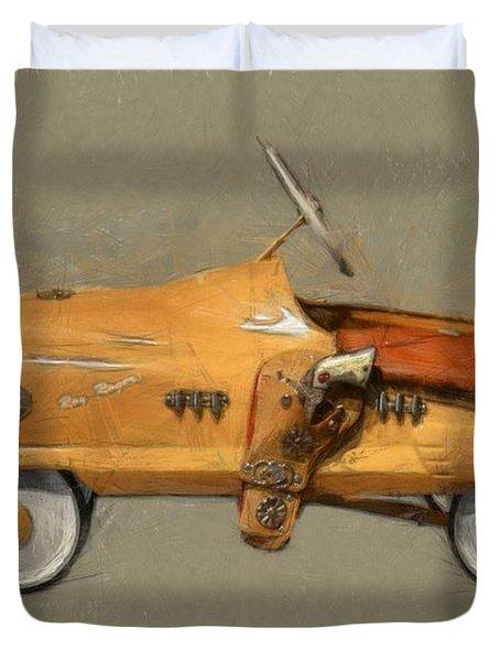 Antique Pedal Car L Duvet Cover