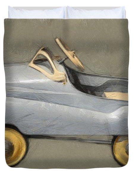 Antique Pedal Car Ll Duvet Cover