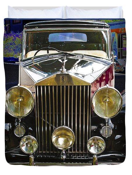 Antique Rolls Royce Duvet Cover by Victoria Harrington