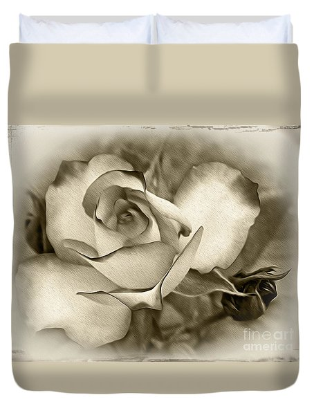 Antique Rose Duvet Cover