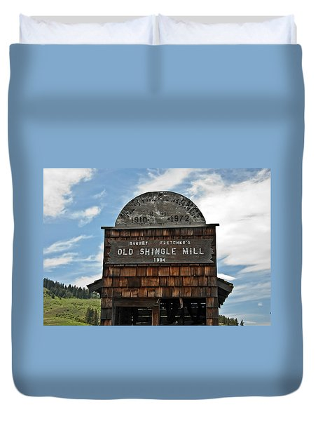 Antique Shingle Mill Duvet Cover