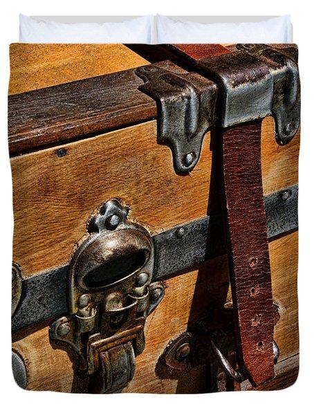 Antique Steamer Truck Detail Duvet Cover by Paul Ward